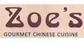 Zoe's Chinese Cuisine menu and coupons