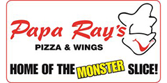 Papa Ray's Pizza & Wings Menu