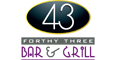 43 Bar & Grill menu and coupons