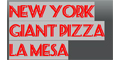 New York Giant Pizza Menu
