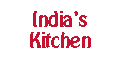 India's Kitchen Menu