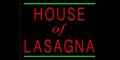 House of Lasagna Menu