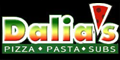 Dalia's Pizza Menu