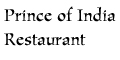 Prince of India Restaurant Menu