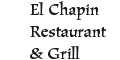 El Chapin Restaurant & Grill menu and coupons