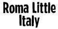 Roma Little Italy  Menu