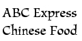 ABC Express Chinese Food Menu