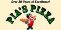 Pia's Pizzeria Menu