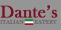 Dante's Italian Eatery Menu