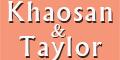Khaosan and Taylor Authentic Thai Menu