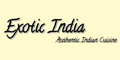 Exotic India Menu