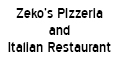 Zeko's Pizzeria and Italian Restaurant Menu