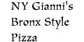 NY Gianni's Bronx Style Pizza Menu