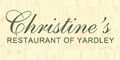 Christine's Restaurant Menu
