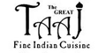 The Great Taaj Indian Cuisine Menu