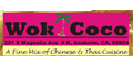 Wok Coco menu and coupons