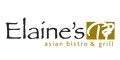 Elaine's Asian Bistro & Grill Menu