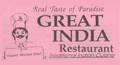 Great India Restaurant menu and coupons
