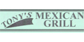 Tony's Mexican Grill menu and coupons