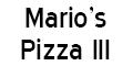 Mario's Pizza III Menu