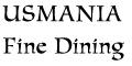 USMANIA Fine Dining Menu