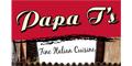 Papa T's Pizza Menu
